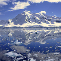 Ice images of Antarctica showing the dramatic icescape