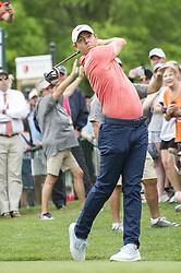 May 5, 2019 - Charlotte, North Carolina, United States of America - Rory McIlroy tees off on the first hole during the final round of the 2019 Wells Fargo Championship at Quail Hollow Club on May 05, 2019 in Charlotte, North Carolina. (Credit Image: © Spencer Lee/ZUMA Wire)