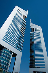 Emirates Towers in financial district of Dubai United Arab Emirates UAE