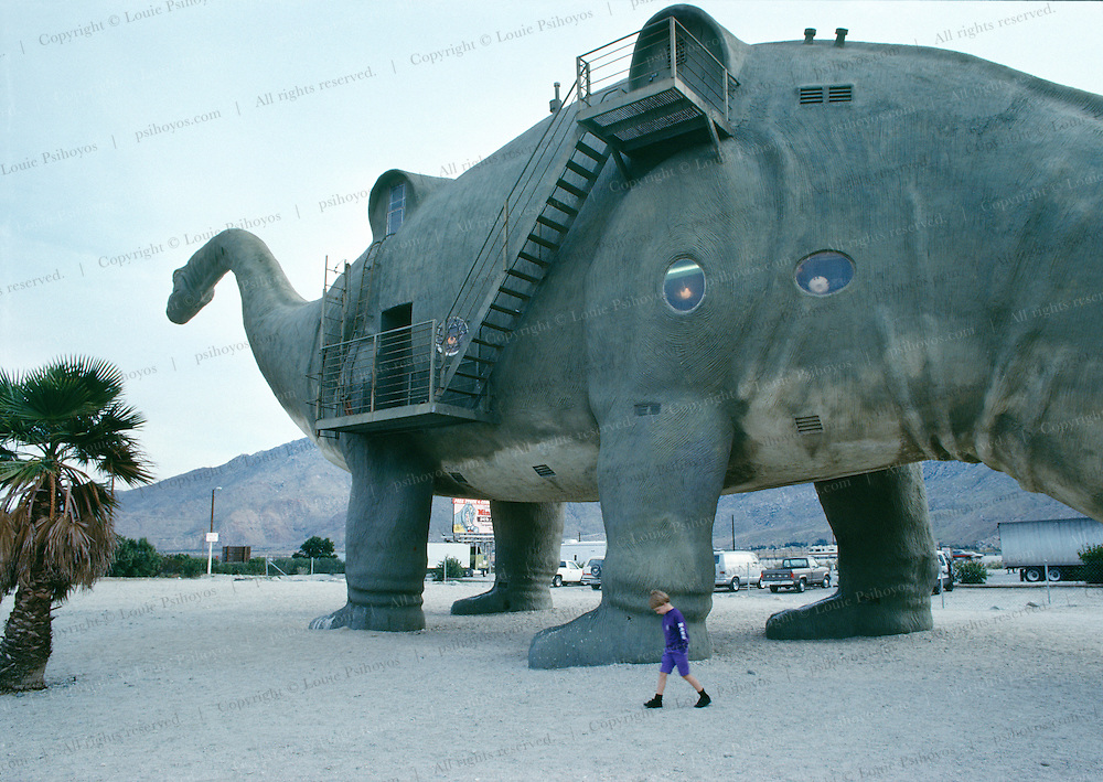 A popular Road-side attraction near Cabazon, California just west of Los Angeles, off Interstate 10.