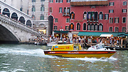 Boat Ambulance on the Grand Canal in Venice. 2013.