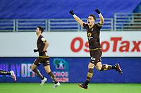Fotball , Eliteserien<br /> 28.12.2020 , 20201228<br /> Mjøndalen - Sogndal<br /> Mjøndalens Markus Lund Nakkim jubler for sitt matchvinnermål til 3-2 <br /> Foto: Sjur Stølen / Digitalsport