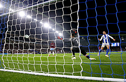 Brighton & Hove Albion's Glenn Murray scores his side's first goal of the game