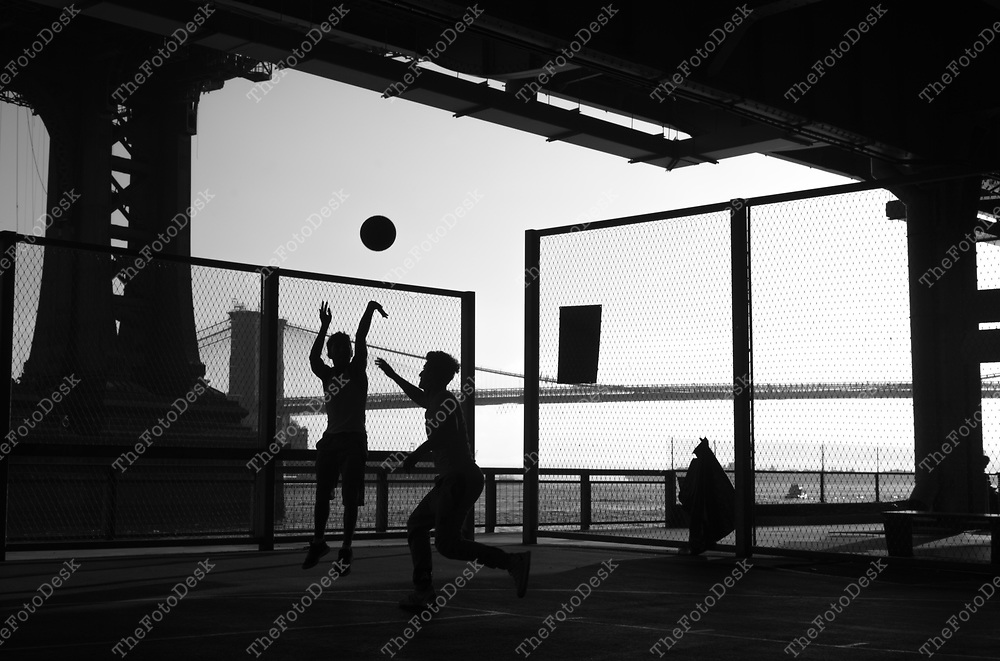 A pick up game under the FDR near the Manhattan Bridge in New York  (©Brian Branch-Price/TheFotodesk)