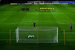 Luke Leahy of Bristol Rovers scores his penalty in the shootout - Mandatory by-line: Robbie Stephenson/JMP - 06/10/2020 - FOOTBALL - Kassam Stadium - Oxford, England - Oxford United v Bristol Rovers - Leasing.com Trophy