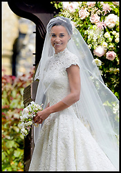 May 20, 2017 - London, London, United Kingdom - Image ©Licensed to i-Images Picture Agency. 20/05/2017. London, United Kingdom. Pippa Middleton wedding to James Matthews. The weeding of Pippa Middleton to James Matthews takes place at St.Mark's Church in Englefield, Berkshire, United Kingdom, Pippa Middleton arrives at St.Mark's Church with her father Michael Picture by  i-Images / Pool (Credit Image: © i-Images via ZUMA Press)