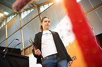 DEU, Deutschland, Germany, Neumarkt i. d. Oberpfalz, 12.05.2013:<br />Bundesparteitag der Piratenpartei Deutschland. Amelia Andersdotter, MdEP der Piraten, nach ihrer Rede auf dem Parteitag.