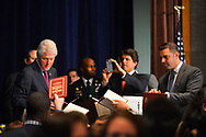 """Bill Clinton, Major Jackson Drumgoole Jr, Mark K. Shriver attend the 72nd Annual """"Father of the year awards"""" Luncheon at Grand Hyatt New York Hotel, on June 11, 2013, in New York City."""