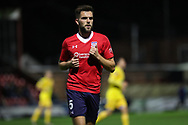York City defender Joe Davies in action during the Vanarama National League match between York City and Chester FC at Bootham Crescent, York, England on 13 November 2018.