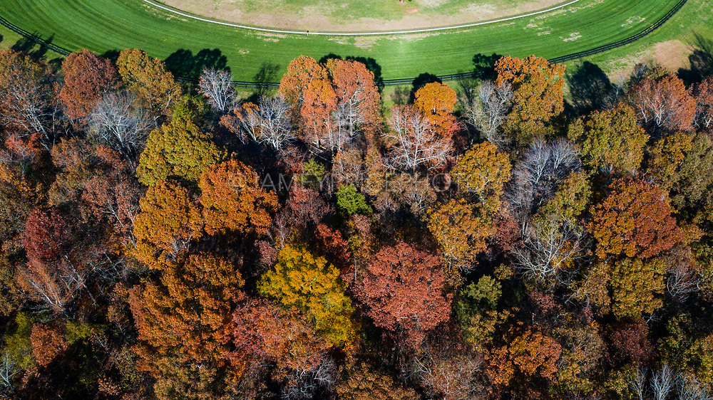 November 24, 2018: Arial view of Brooklandwood, home of the Queens' Cup Steeplechase