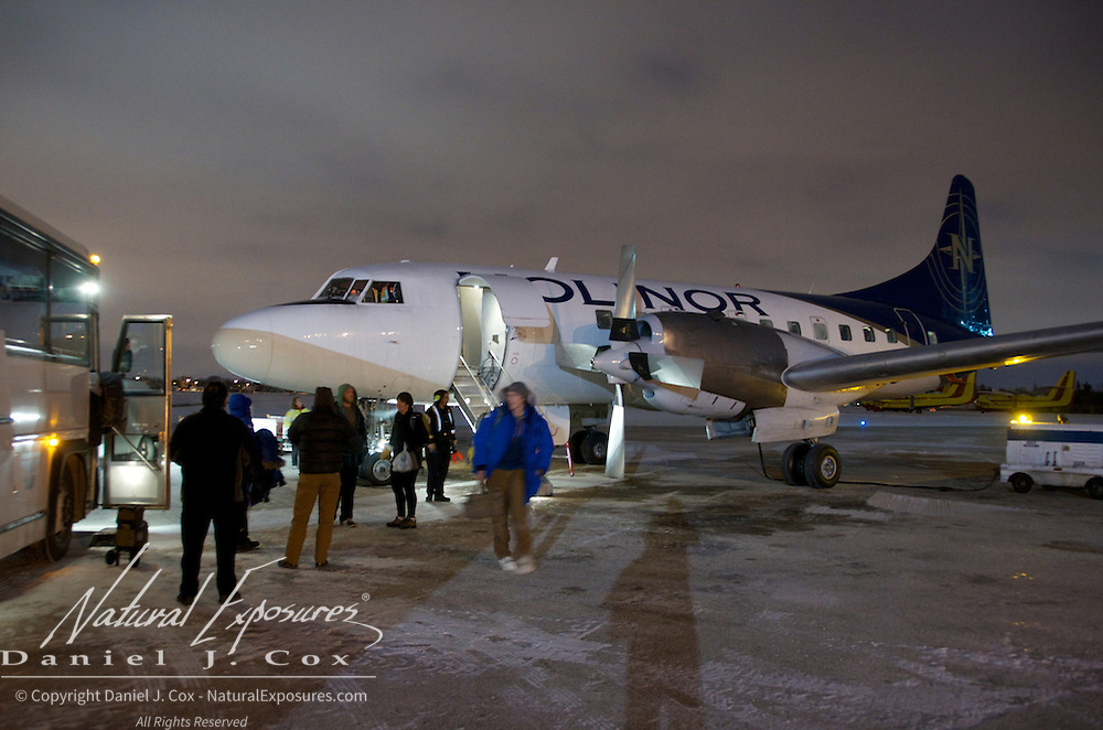 Our Cape Churchill group arrives in Winnipeg returning from the Churchill, Manitoba.