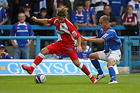 Photo: Pete Lorence.<br />Chesterfield Town v Wycombe Wanderers. Coca Cola League 2. 01/09/2007.<br />Sergio Torres and Phil Picken battle for the ball.