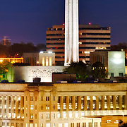 Downtown Kansas CIty's Liberty Memorial / National World War One Museum prior to sunrise.