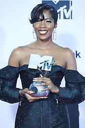 November 4, 2018 - Madrid, Madrid, Spain - Tiwa Savage poses in the press room during the 25th MTV EMAs 2018 held at Bilbao Exhibition Centre 'BEC' on November 5, 2018 in Madrid, Spain (Credit Image: © Jack Abuin/ZUMA Wire)
