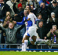 Fotball<br /> England <br /> Foto: Propaganda/Digitalsport<br /> NORWAY ONLY<br /> <br /> Blackburn, England - Tuesday, December 26, 2006: Blackburn Rovers' Benni McCarthy celebrates scoring the opening goal against Liverpool, with his team-mate Morten Gamst Pedersen, during the Premiership match at Ewood Park