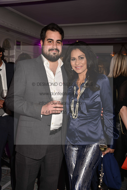 Lady Wilhelmina Forsyth and her son Jonathan Joseph Forsyth at the 2017 Fortnum & Mason Food & Drink Awards held at Fortnum & Mason, Piccadilly London England. 11 May 2017.<br /> Photo by Dominic O'Neill/SilverHub 0203 174 1069 sales@silverhubmedia.com