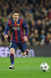 Barcelona's Lionel Messi - Photo mandatory by-line: Dougie Allward/JMP - Mobile: 07966 386802 - 18/03/2015 - SPORT - Football - Barcelona - Nou Camp - Barcelona v Manchester City - UEFA Champions League - Round 16 - Second Leg