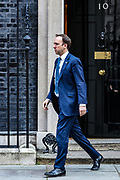 Britain's Secretary of State of Health Matt Hancock is seen outside Downing Street, as the spread of the coronavirus disease (COVID-19) continues, in London, Britain March 23, 2020. (Photo/Vudi Xhymshiti)