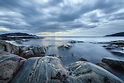Seascapes at Hide, Gjerdsvik, Norway. Blurred skies and sea caused by long exposure   Kystlandskap fra Hide i Gjerdsvika. De slørete skyene og himmelen kommer fra lang eksponering.