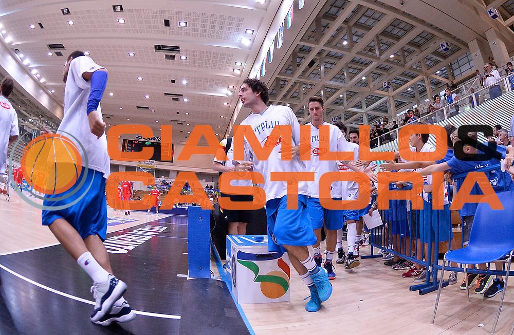 DESCRIZIONE : Trento Nazionale Italia Uomini Trentino Basket Cup Italia Austria Italy Austria <br /> GIOCATORE : Amedeo Della Valle<br /> CATEGORIA : pregame before<br /> SQUADRA : Italia Italy<br /> EVENTO : Trentino Basket Cup<br /> GARA : Italia Austria Italy Austria<br /> DATA : 31/07/2015<br /> SPORT : Pallacanestro<br /> AUTORE : Agenzia Ciamillo-Castoria/R.Morgano<br /> Galleria : FIP Nazionali 2015<br /> Fotonotizia : Trento Nazionale Italia Uomini Trentino Basket Cup Italia Austria Italy Austria
