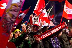 09.02.2011, Kandahar, Garmisch Partenkirchen, GER, FIS Alpin Ski WM 2011, GAP, Herren Super G, , Medal Ceremony, im Bild österreichische Fans // Fans from Austria during Men Super G, Fis Alpine Ski World Championships in Garmisch Partenkirchen, Germany on 9/2/2011. EXPA Pictures © 2011, PhotoCredit: EXPA/ J. Groder