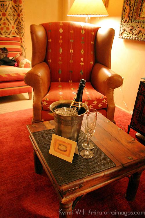 North America, USA, New Mexico, Santa Fe. Welcome Champagne