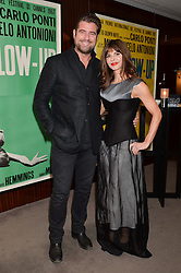 """STEVE POUND and JUSTINE FRANCESCA GLENTON at a private screening Of """"The Gun, The Cake and The Butterfly"""" hosted by Amanda Eliasch at The Bulgari Hotel, 171 Knightsbridge, London on 24th March 2014."""