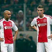 Ajax's Demy de ZEEUW (L) and Toby ALDERWEIRELD (R) during their Friendly soccer match Galatasaray between Ajax at the Turk Telekom Arena at Arslantepe in Istanbul Turkey on Saturday 15 January 2011. Turkish soccer team Galatasaray new stadium Turk Telekom Arena opening ceremony. Photo by TURKPIX