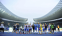 Fotball<br /> Tyskland<br /> 25.10.2014<br /> Foto: Witters/Digitalsport<br /> NORWAY ONLY<br /> <br /> Schlussjubel Hertha BSC Berlin<br /> Fussball Bundesliga, Hertha BSC Berlin - Hamburger SV 3:0