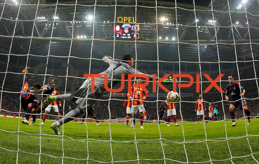 Galatasaray's and Istanbul Basaksehir's during their Turkish Super League soccer match Galatasaray between Istanbul Basaksehir at the AliSamiYen Spor Kompleksi TT Arena at Seyrantepe in Istanbul Turkey on Saturday, 14 March 2015. Photo by Aykut AKICI/TURKPIX