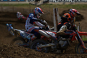 Yes, motocross is a contact sport. Jordi Tixier getting friendly with Petar Petrov.