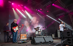 Neil Murray (keyboards) with Fat Cops on the main stage. Party at the Palace 2019.