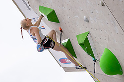 25.06.2021, Kletterzentrum, Innsbruck, AUT, IFSC, Austria Climbing Open 2021, Damen, Vorstieg, Halbfinale, im Bild Janja Garnbret (SLO) // Janja Garnbret of Slovenia during the semifinal of women Lead competition of the Austria Climbing Open 2021 at the Kletterzentrum in Innsbruck, Austria on 2021/06/25. EXPA Pictures © 2021, PhotoCredit: EXPA/ Johann Groder