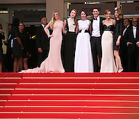 The cast of the Bling Ring at at the gala screening of Jeune & Jolie at the 2013 Cannes Film Festival 16th May 2013