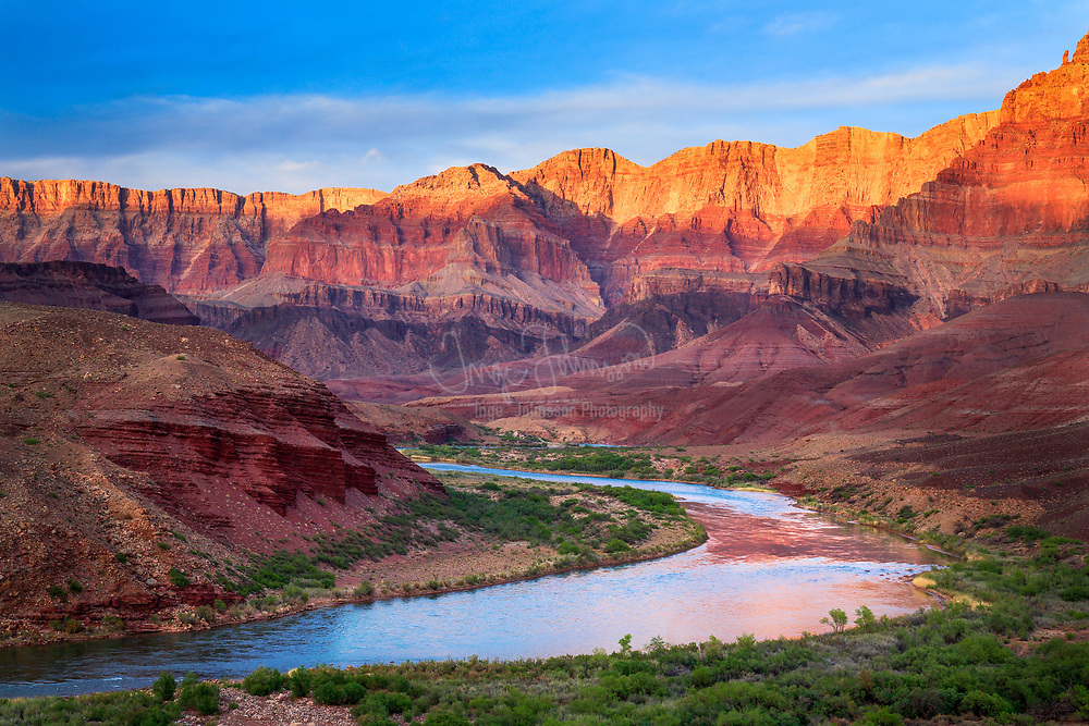 The Colorado River from Cardenas in the interior of the canyon