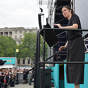 Sign Language Interpreters at West End Live 2019 - Day 2 in Trafalgar Square, on 23 June 2019, London, UK.