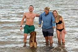 The annual impromptu dip in the sea on Portobello Beach<br /> <br /> <br /> © Jon Davey/ EEm