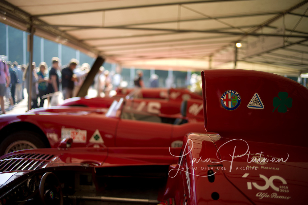 Alfa Romeo Scuderia Portello and Historic Museum. In the paddocks /  making pasta. Everyone is involved in making the race weekend work.