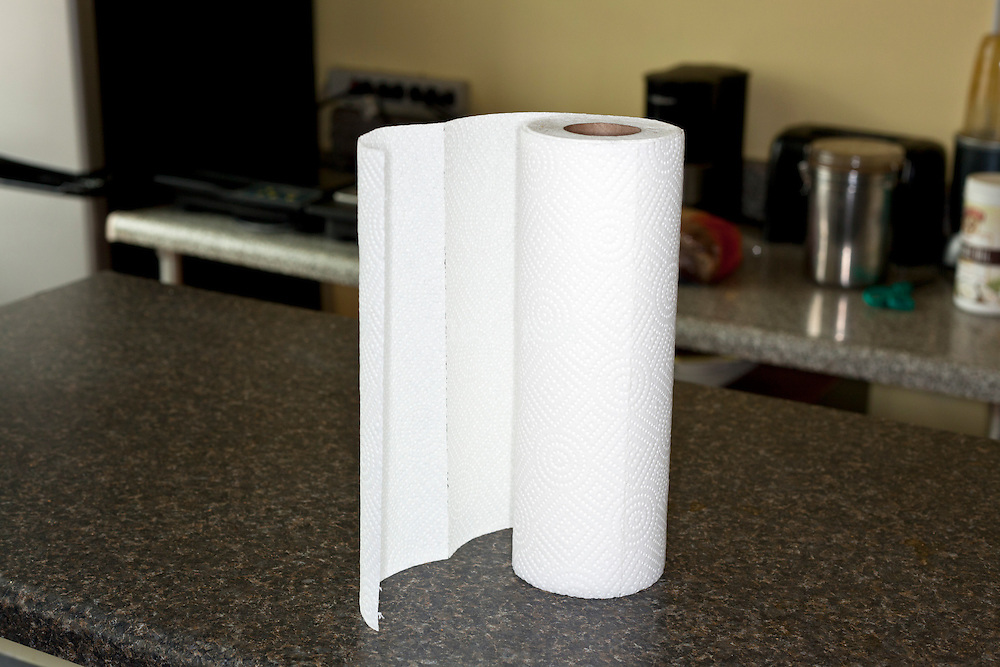 kitchen roll on counter