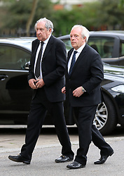 Gordon Taylor (right) outside St Luke's and Christ Church, London.