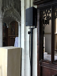 Final preparations are underway at St Mark's Church in Englefield ahead of Pippa Middleton's wedding this coming Saturday,<br /><br />18 May 2017.<br /><br />Please byline: ***NO BYLINE***