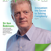 Sir Ken Robinson on the cover of Simple At Work, a publication of the Xerox Corporation.