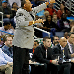 December 21, 2011; New Orleans, LA, USA; Memphis Grizzlies head coach Lionel Hollins against the New Orleans Hornets during a preseason game at the New Orleans Arena.   Mandatory Credit: Derick E. Hingle-US PRESSWIRE