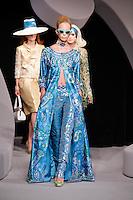 Tanya Dziahileva walks the runway  at the Christian Dior Cruise Collection 2008 Fashion Show