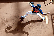 Justin Verlander #35 of the Houston Astros warms up during his bullpen day at Minute Maid Park on May 23, 2019 in Houston, Texas.