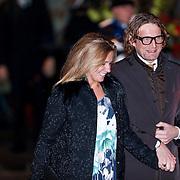 NLD/Utrecht/20130201 - Vertrek 75ste verjaardagfeest  Koninging Beatrix, prins Bernhard Lucas Emmanuel Prins van Oranje -  Nassau, Van Vollenhoven en partner Annette Sekrève