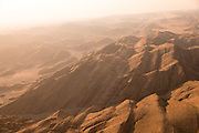 Aerial view over mountains, Skeleton Coast, hoanib river, Northern Namibia, Southern Africa