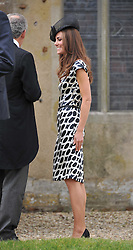 The Wedding of Sam Waley-Cohen to Miss Annabel (Bella) Ballin at St Michael & All Angels Church, Lambourn, Berkshire on 11th June 2011.<br /> Picture Shows:-HRH THE DUCHESS OF CAMBRIDGE