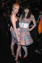 Left to right, model AGYNESS DEYN and DAISY LOWE at the launch of his Gold range for New Look held at their store 500 Oxford Street, London W1 on 12th March 2006.<br />