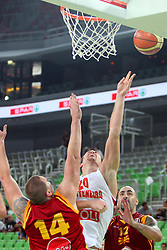 Vladimir Dragicevic of Montenegro at friendly match between Macedonia and Montenegro for Adecco Cup 2011 as part of exhibition games before European Championship Lithuania on August 9, 2011, in SRC Stozice, Ljubljana, Slovenia. (Photo by Urban Urbanc / Sportida)